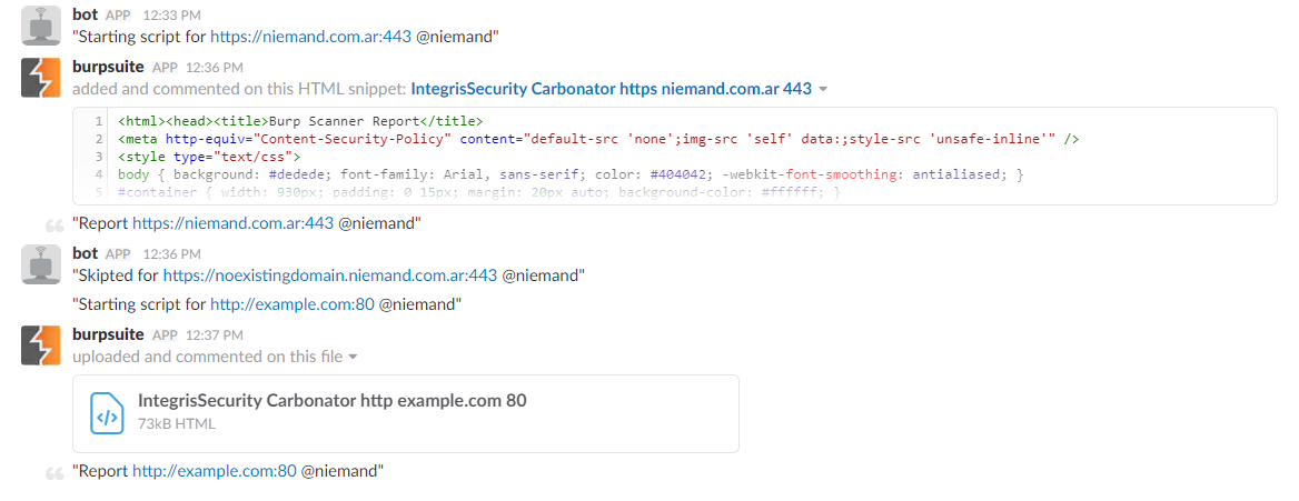 Automatizing Burp + Carbonator + Slack – Niemand – Cyber Security